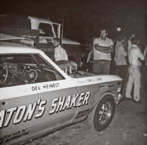 Seaton's Shake Chevelle in the pits at Detroit Dragway