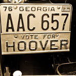 Vote for Hoover license tag