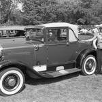 Ford Model A Cabriolet with an unknown woman