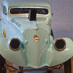 The grille of the World's Wildest Willys Gasser