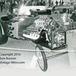 Batam Altered with a blown Chrysler engine.
