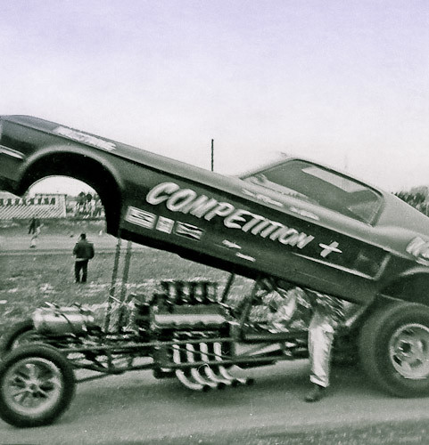 The Competition + on the return road at Detroit Dragway