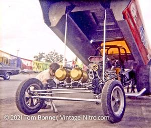 Arnie Beswick's Super Judge Logghe Chassis Detroit Dragway