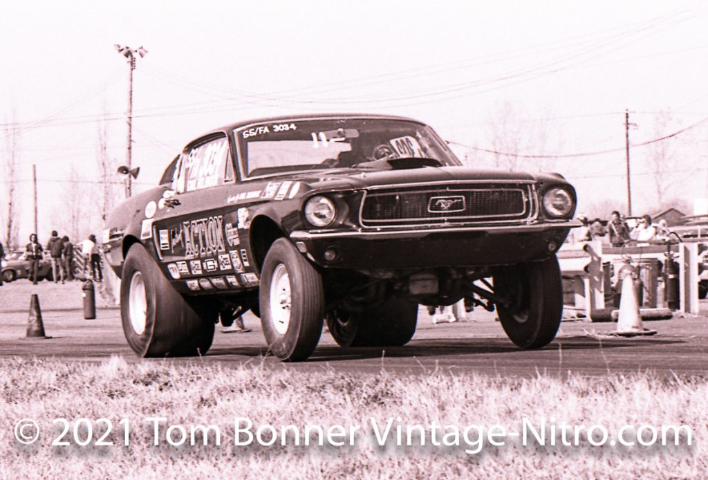 Carl Holbrook and his Instant Action Mustang was a major force in the Super Stock Ranks