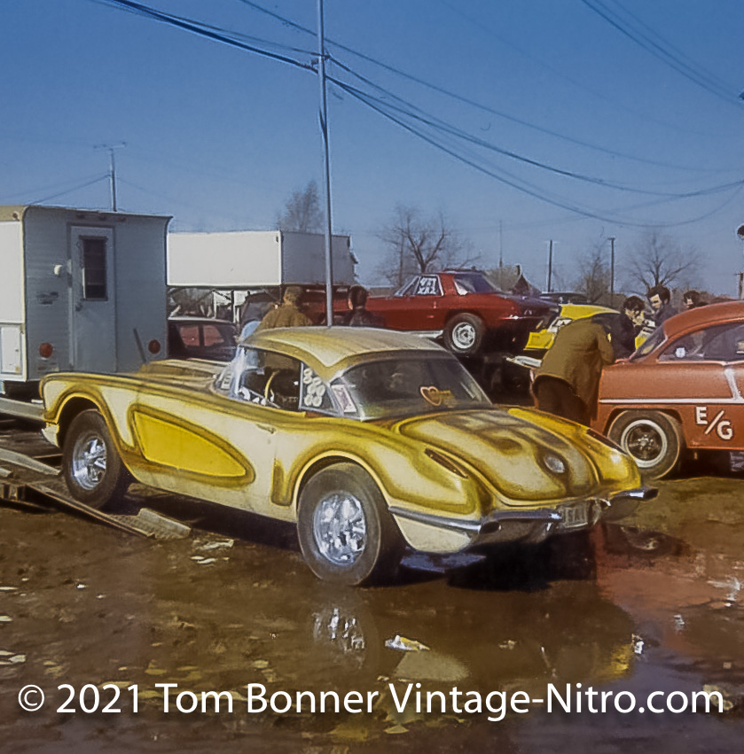 Corvette in the mud