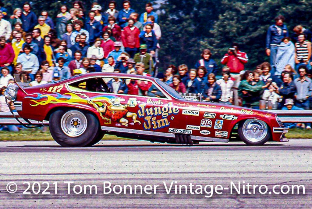 Jungle Jim Liberman at the wheel of his '75 Vega